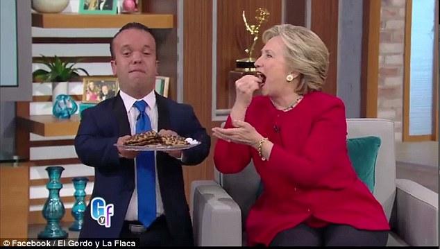 hillary eating