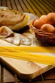 16780721-spaghetti-carbonara-ingredients-bacon-eggs-pasta
