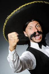 36691402-funny-mexican-with-sombrero-in-concept