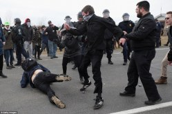 antifa kicking somone