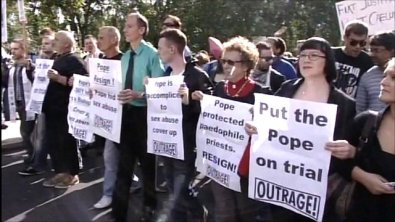 protesting the pope
