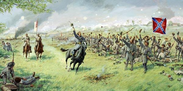 Illustration of Pickett's charge